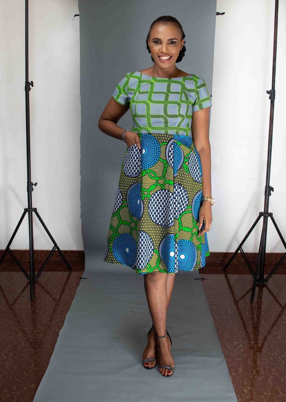 The Odion ankara dress