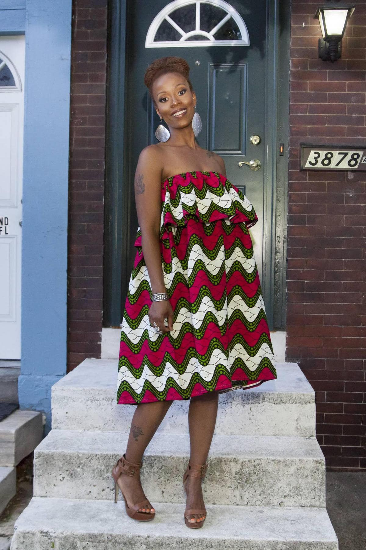 Gorgeous ruffled ankara dress perfect for summer