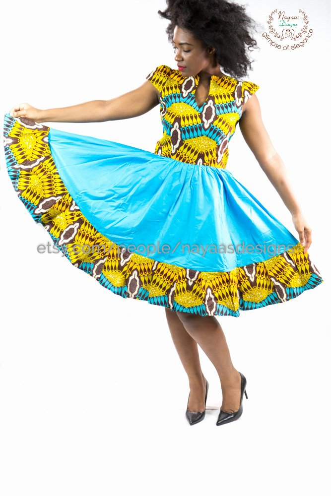 Here's another beautiful kente dress