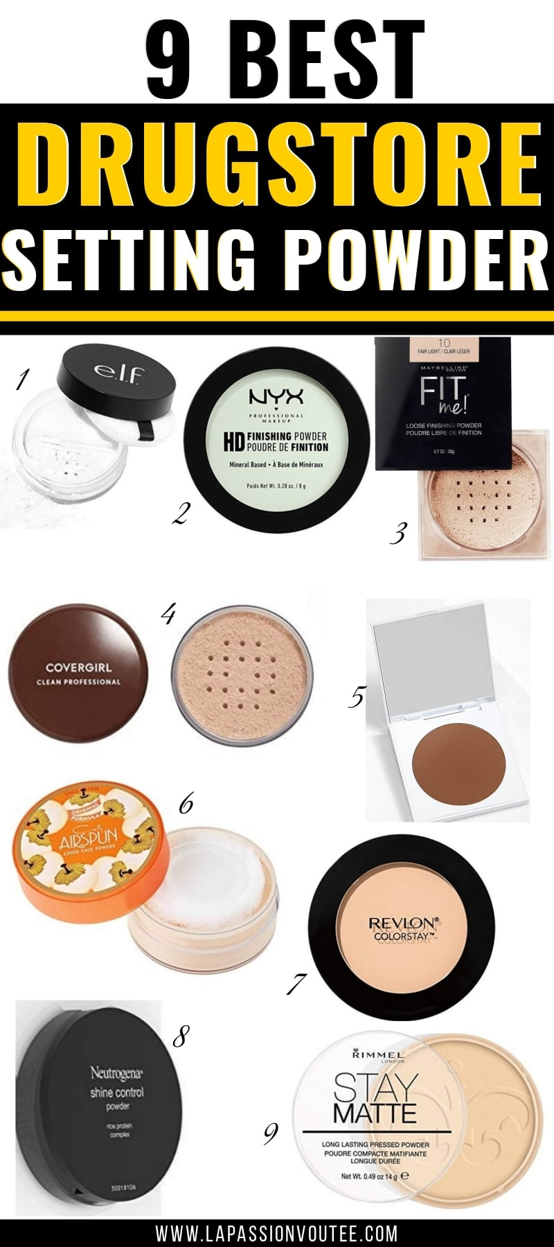 We've rounded up the best drugstore setting powders for oily skin that REALLY work. From Covergirl, Maybelline, and Revlon to ColourPop, NYX, and Coty Airspun this comprehensive shopping guide features both the best drugstore pressed powders and loose powders.