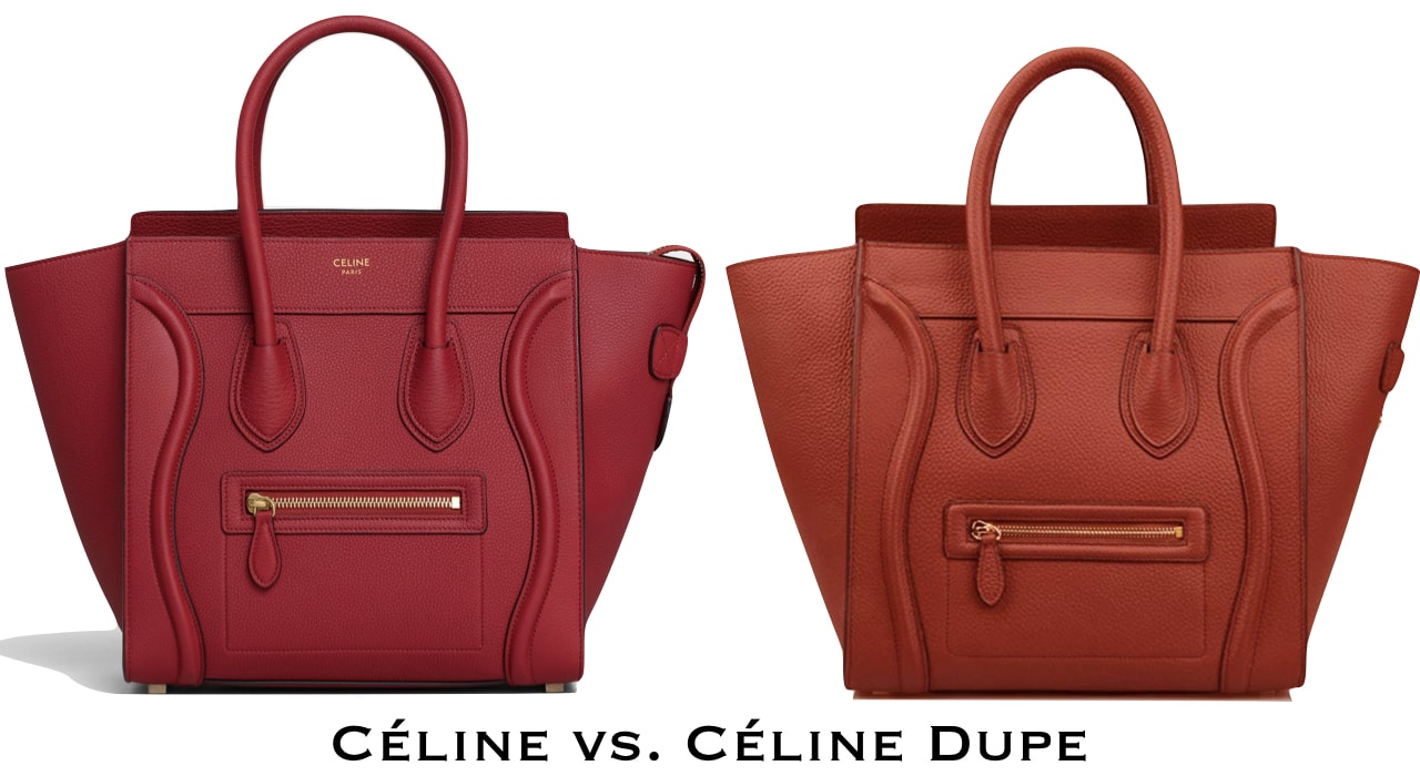 Check out this genuine leather Celine mini luggage bag look-alike. This dupe looks like an actual Celine handbag without the hefty price tag.