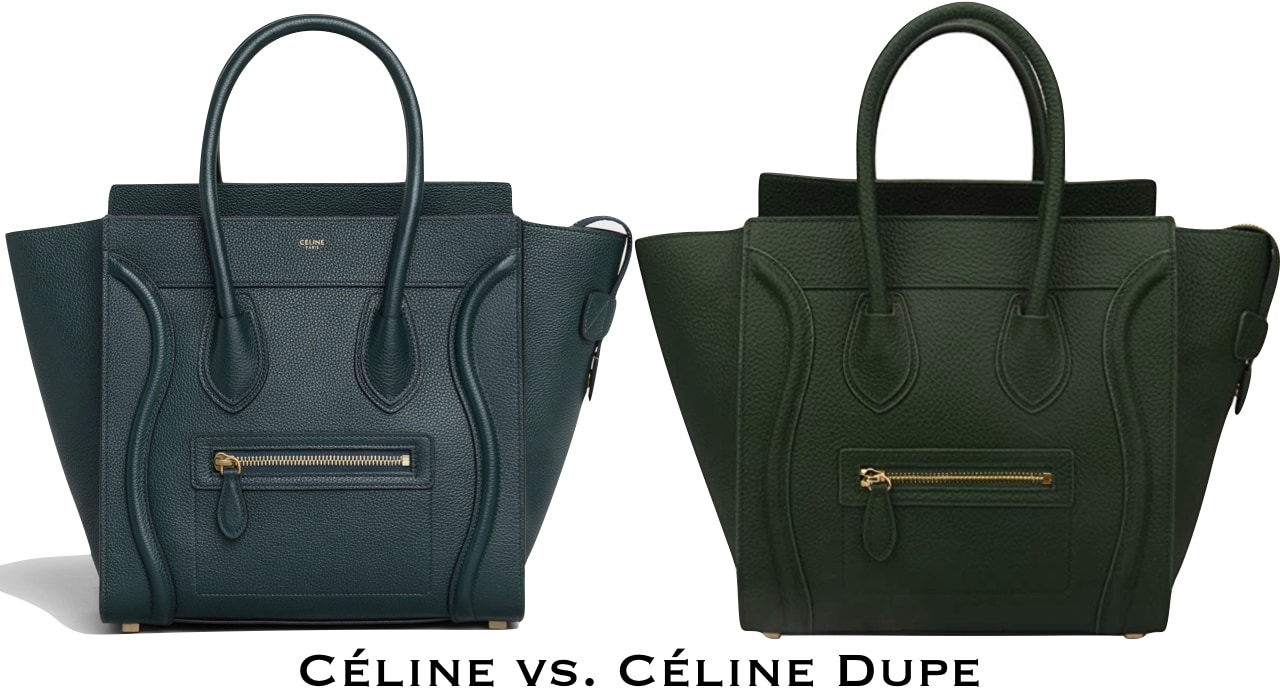 Here's a cute dupe of the Celine mini luggage bag. And guess what? It's made with genuine leather too!