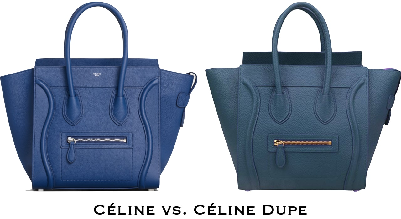 In search of a Celine purse look alike. Decide whether to splurge on the brand name purse or an inspired version of the mini luggage tote after looking at the side by side comparison!