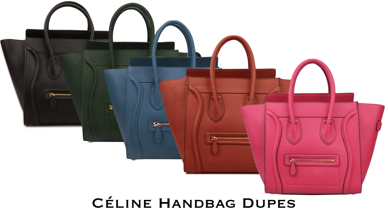 Looking for designer dupes for a fraction of the price? You'd love the selection of these genuine leather Celine mini luggage tote dupes!