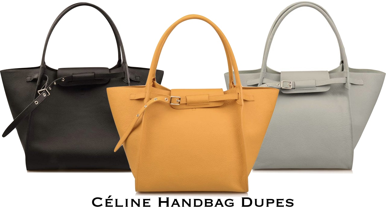 The ultimate roundup of the best Celine Big Bag leather crossbody bag dupes