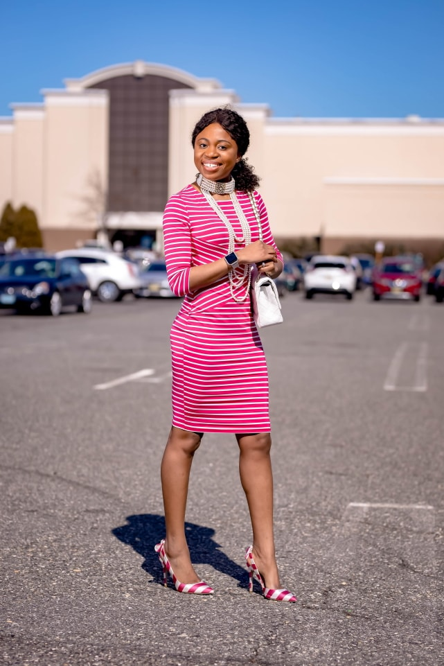 Style blogger, Louisa shows us how to style the best Amazon bodycon dress. She breaks down how to transform this 3/4 sleeve dress by pairing it with slingback striped sandals, a quilted structured purse (Chanel-inspired bag), and statement jewelry for the ultimate date night outfit or cocktail dress. Next, she styles it with a pair of pink braided slides. With so many summer outfit options, you're not going to believe how cheap this pencil dress is. This post covers summer outfits, summer dresses, bow pumps, designer dupes #amazonfinds #amazonhaul #amazonfashion