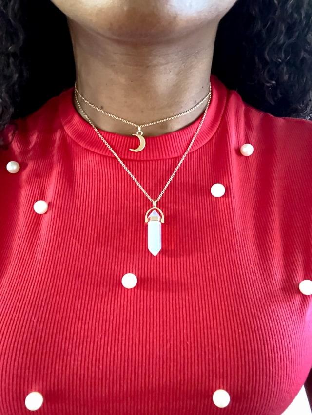 Layered Opal Choker Necklace 1-57 640