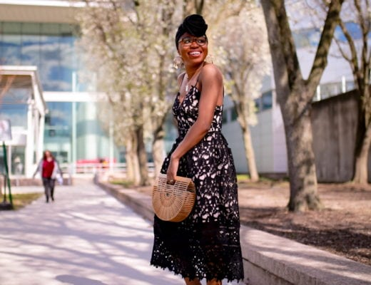 THIS cute black lace midi dress is the new little black dress. You won't guess how much it costs! Plus over 15 best options for wedding guests, graduation, and birthday parties. #lacedress #cocktaildresses #blackwomensmakeup