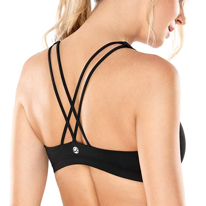 CRZ YOGA Cross Back Wirefree Longline Yoga Sports Bra