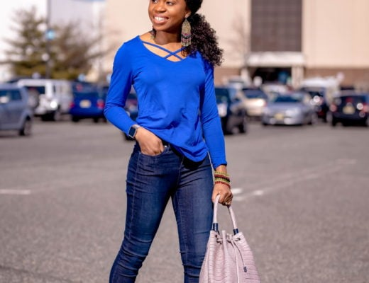 Looking for the perfect crisscross v-neck top that won't break the bank? You'd love this lightweight top. At a price tag of $17, this soft v-neck blouse is great as a workwear paired with classic pants, as a casual everyday look with a pair of denim or shorts when the summer heat arrives. #summerlook #springoutfits #traveloutfit #styleblogger