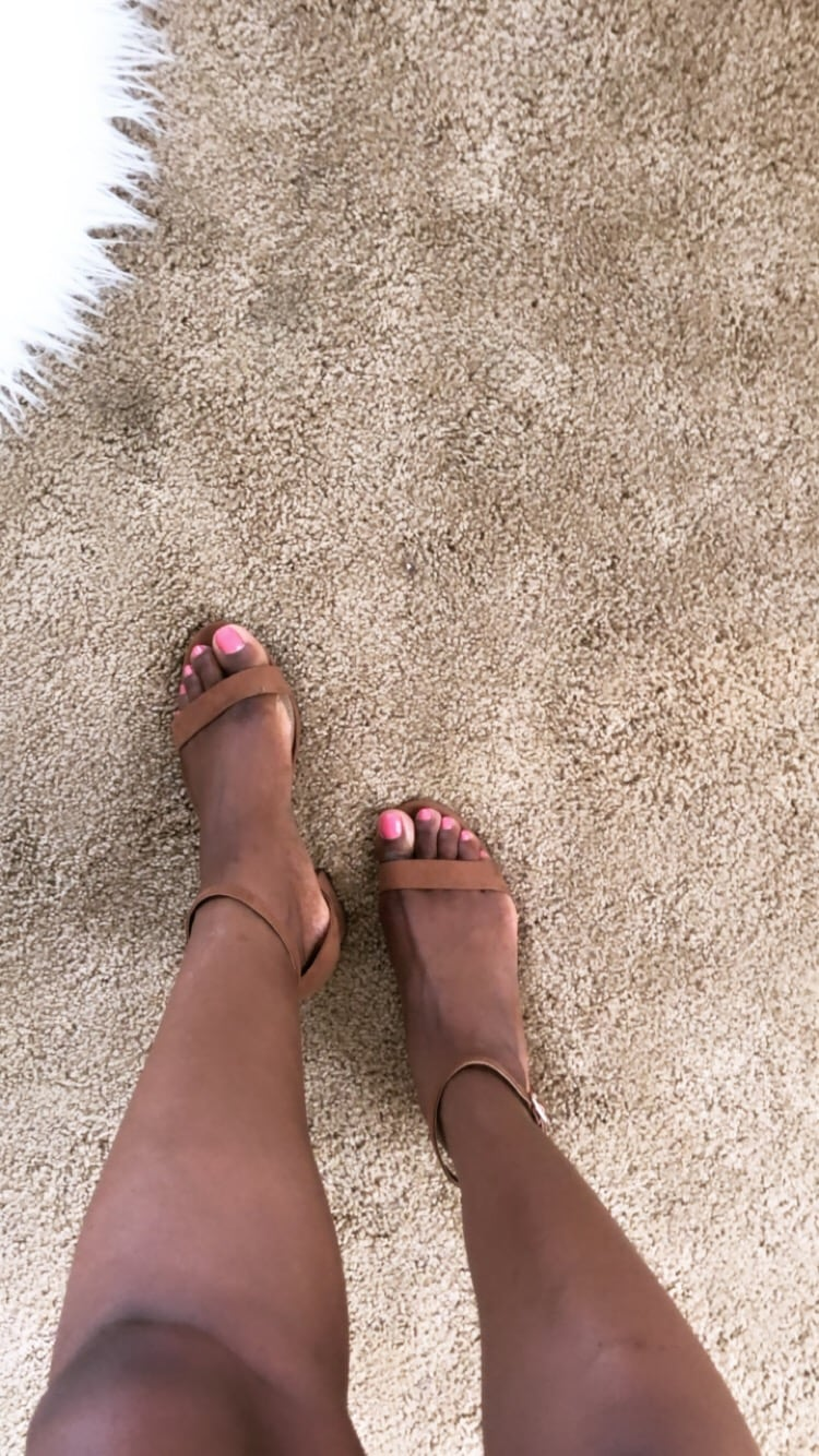 JustFab open toe sandals
