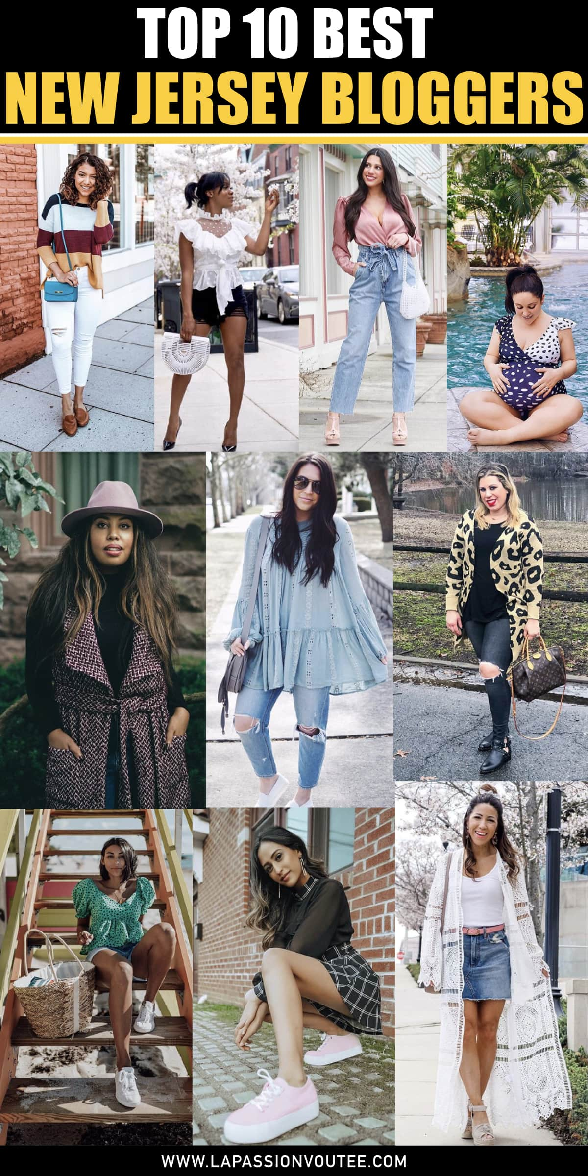 It's no secret that New York is the hub of fashion and some of the most well-known fashion bloggers. However, a few miles away from New York, you'll discover the best New Jersey bloggers killing it right now. Keep reading to discover the best local fashion bloggers in The Garden State!  #fashionblog  #fashionblogging #newjersey #fashionista