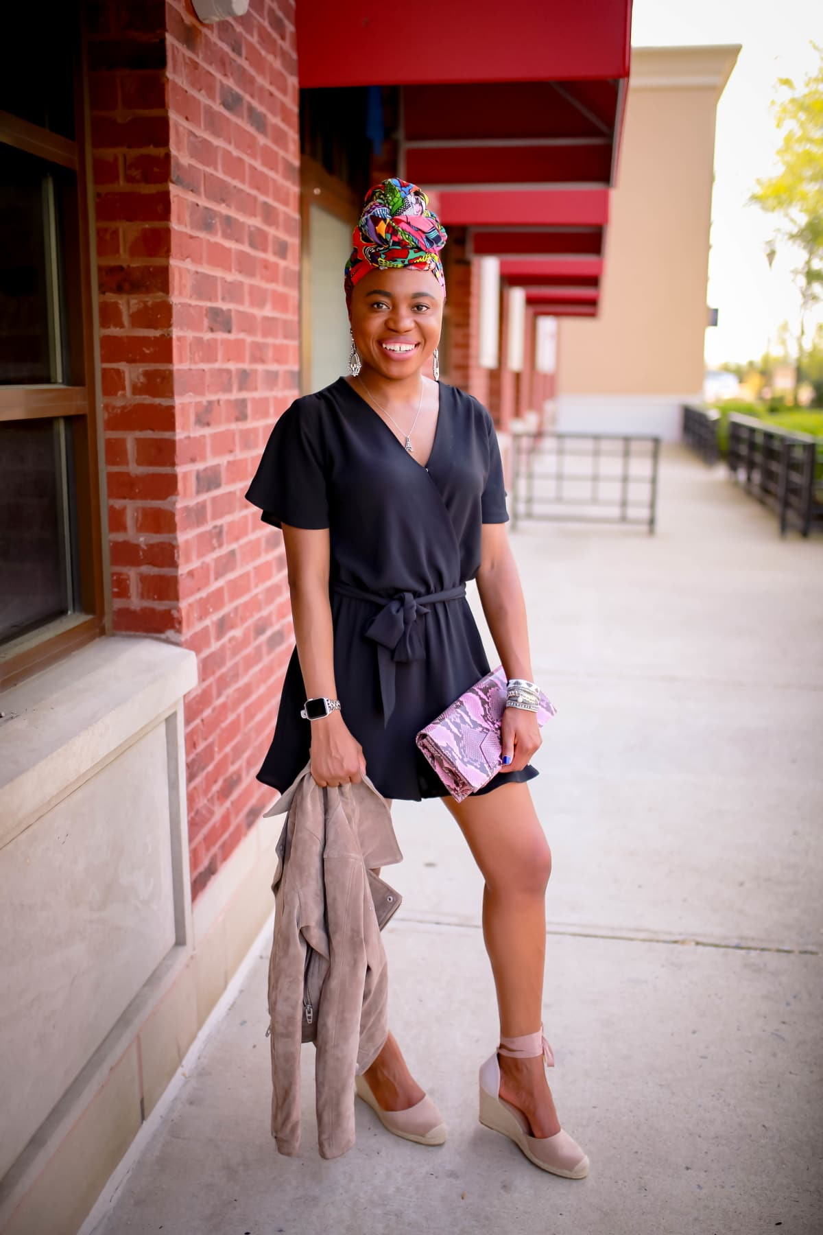 Fashion and style blogger, Louisa Moje shares three practical looks to wear this summer. IF you've always been at a loss on how to style a romper, read this post. Get three practical outfit ideas on how to style a black romper from work style, everyday casual, to date night look. #datenight #everydaystyle #casualstyle