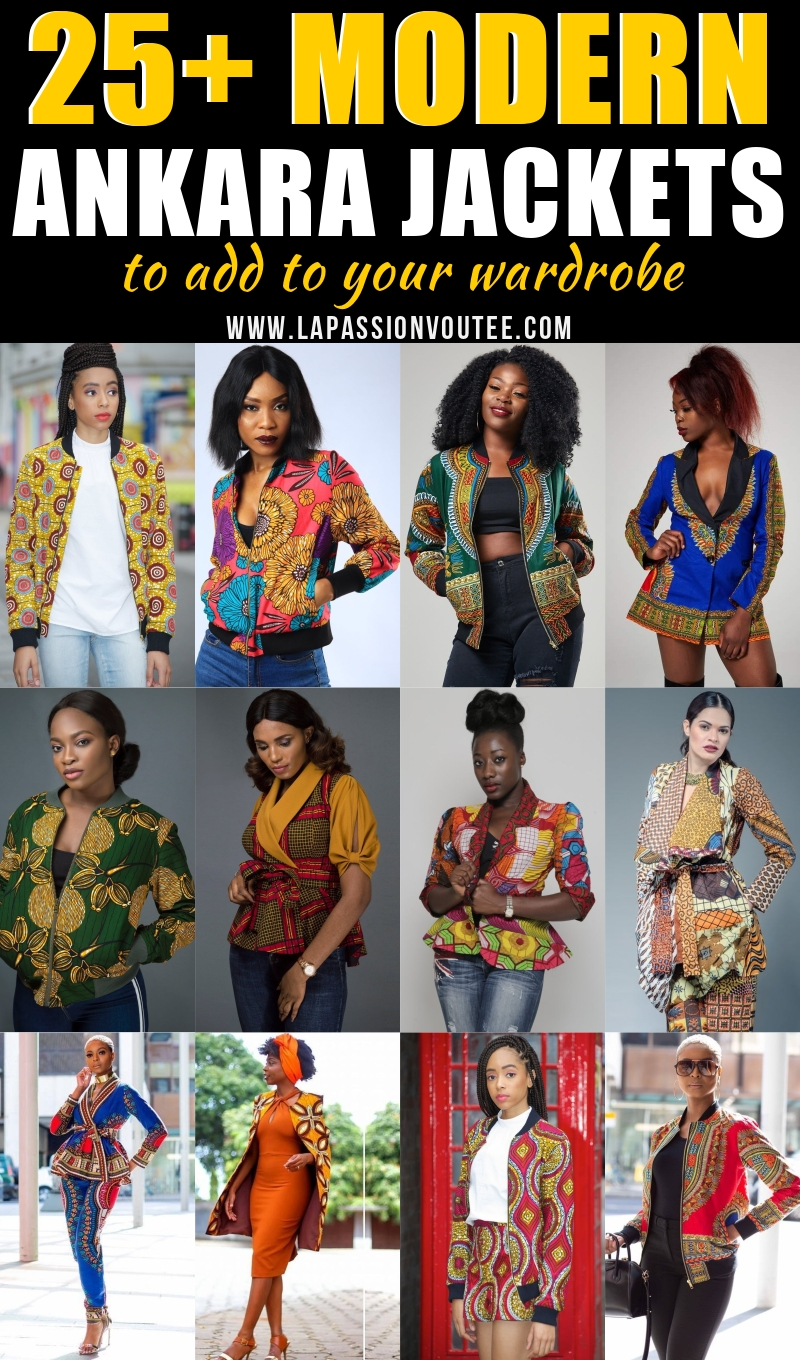 A roundup of the most stylish ankara jackets to rock this year. From bomber jackets and blazers to wrap tops and kimonos, these African print jackets are versatile, fashionable, and the ultimate show-stopper!