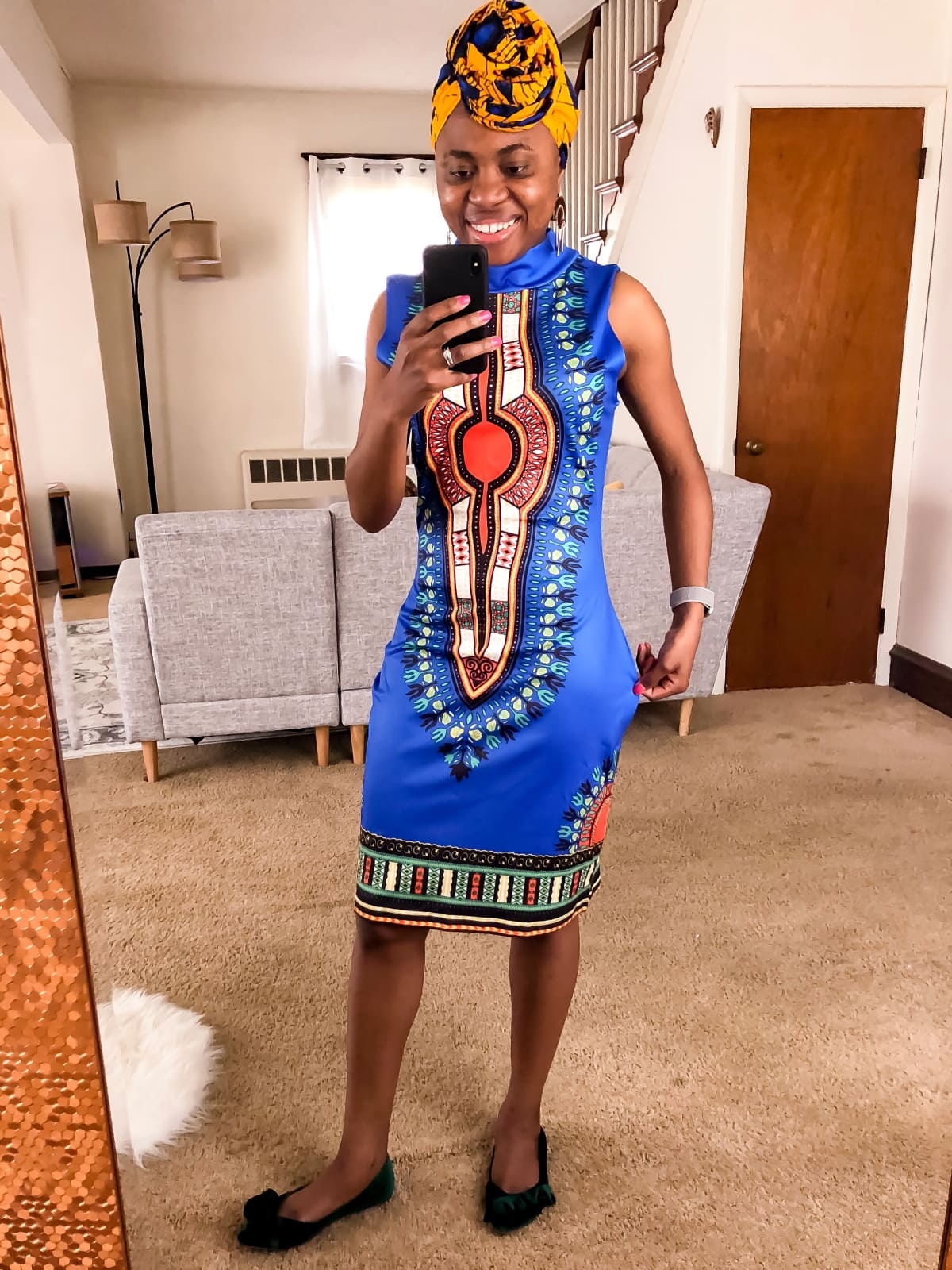 This is the best African print fashion haul yet. These are the most affordable wax print clothes you'll find online. The price will shock you. Keep reading to find out how you can score authentic ankara clothes for less and which pieces to absolutely avoid. This review post features a midi dress, a bow tie blouse, a two-piece ankara pantsuit, and more!