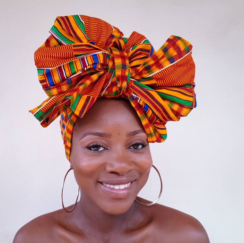 Check out the best African head wraps in 2020 and where to get them. Among these ankara and kente headscarves, #5 is my absolute favorite! All your favorite styles in one place (+find out where to get them). Click to see all! #africantrends #kitenge #headwear