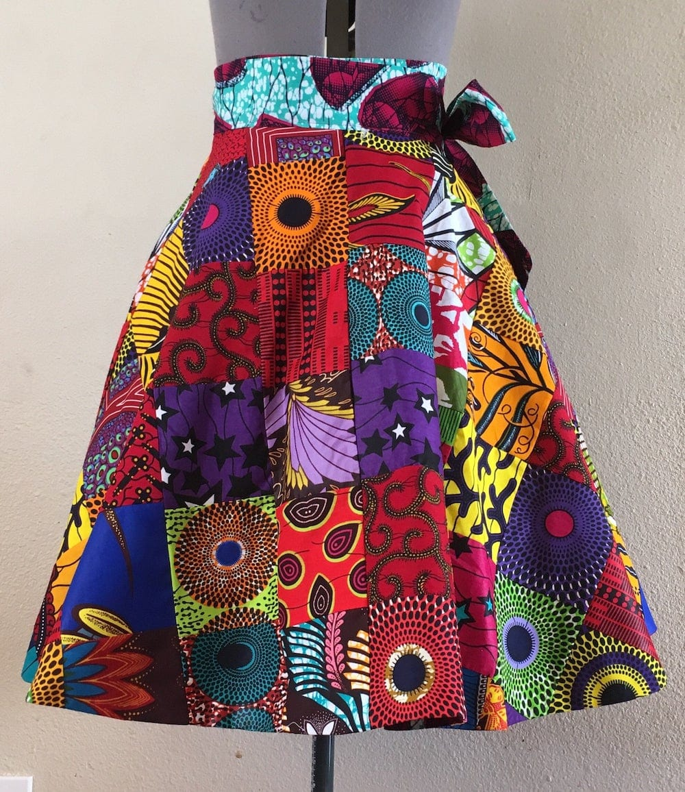 A-line Ankara Wrap Skirt by With Flare 13