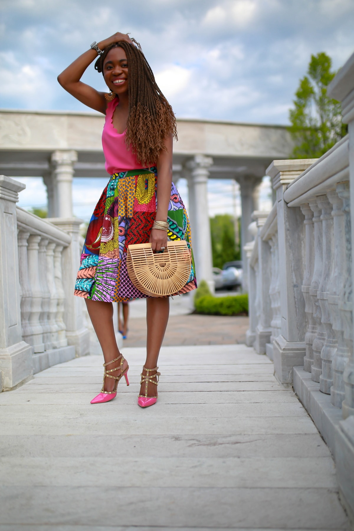 This bamboo wood bag is a must have this summer