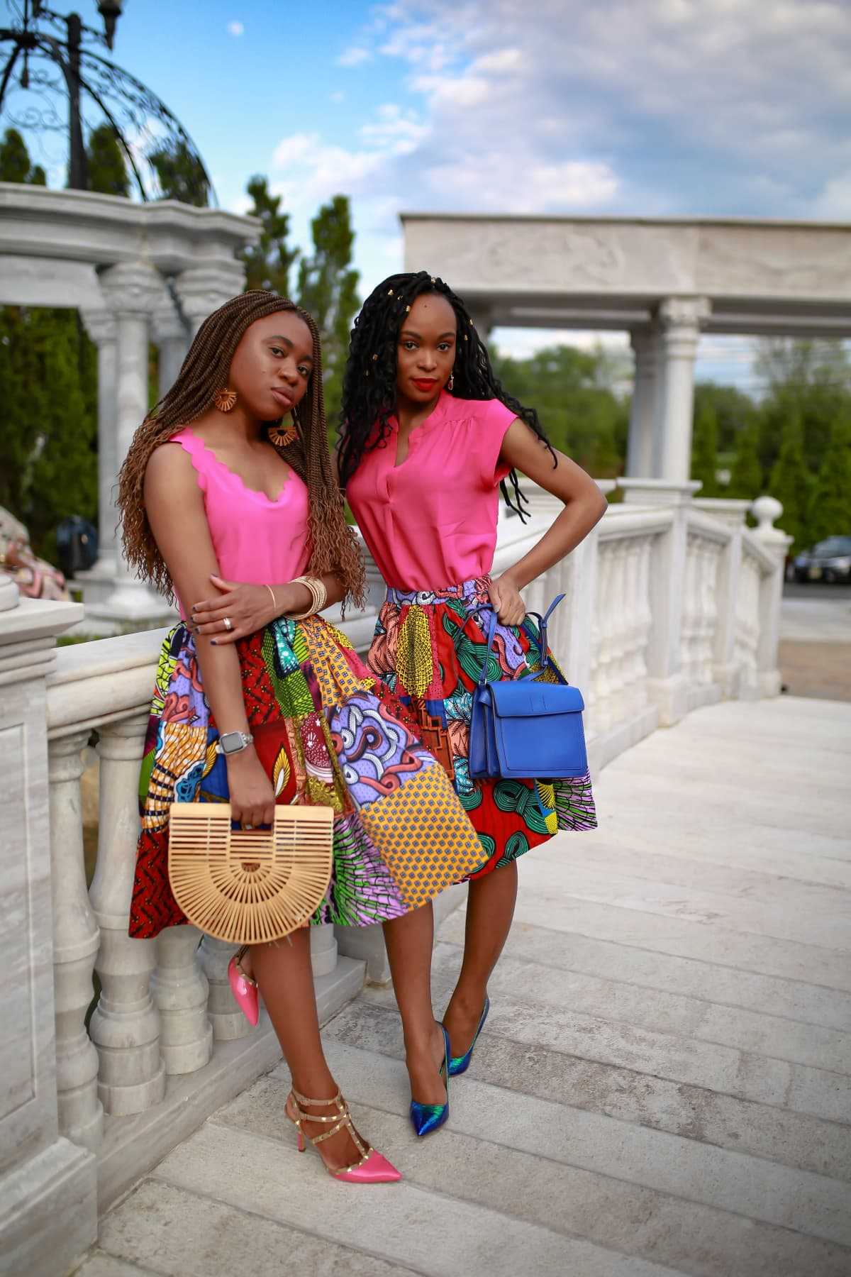 Still crushing on this affordable African midi skirt. Can't believe it ships free with free return and it's on sale!