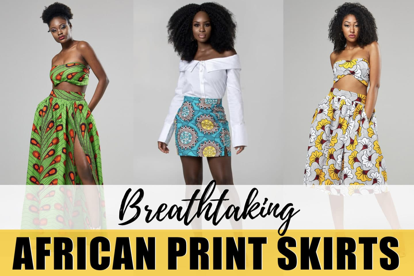 57813cec7c An epic roundup of almost 25 ankara skirts and other African print styles  in fashion.
