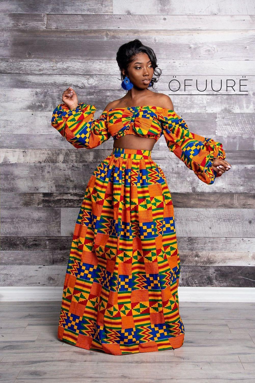 Bukola Maxi Skirt by Ofuure 6A