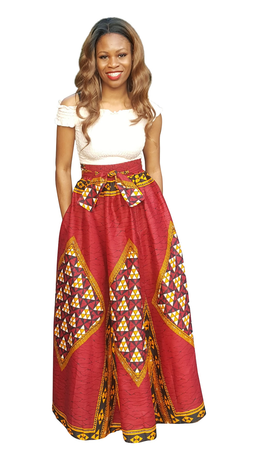 Diamond Print Maxi Skirt by Dupsie 9B
