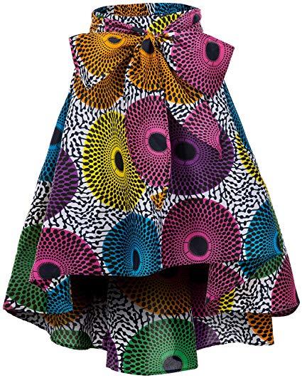 Wax Print Traditional Skirt by Shenbolen 7