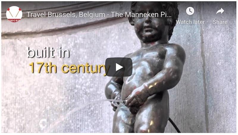 Manneken Pis Brussels video