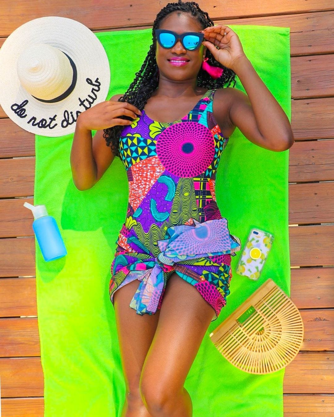 pumpsandpouts in Fulani African print swimsuit