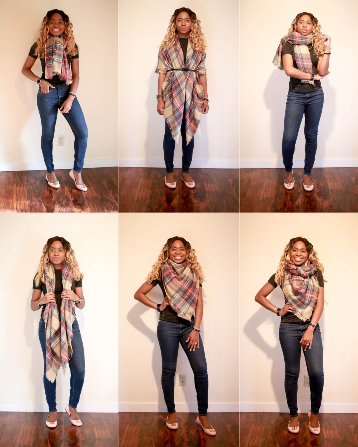 5 Easiest Ways To Wear A Scarf How To Tie A Blanket Scarf In 2021