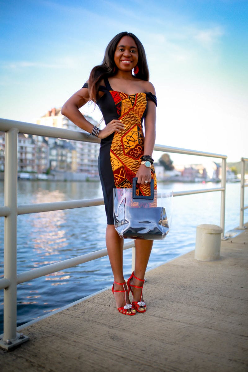 Stunning African Print Sheath Dress for Special Events