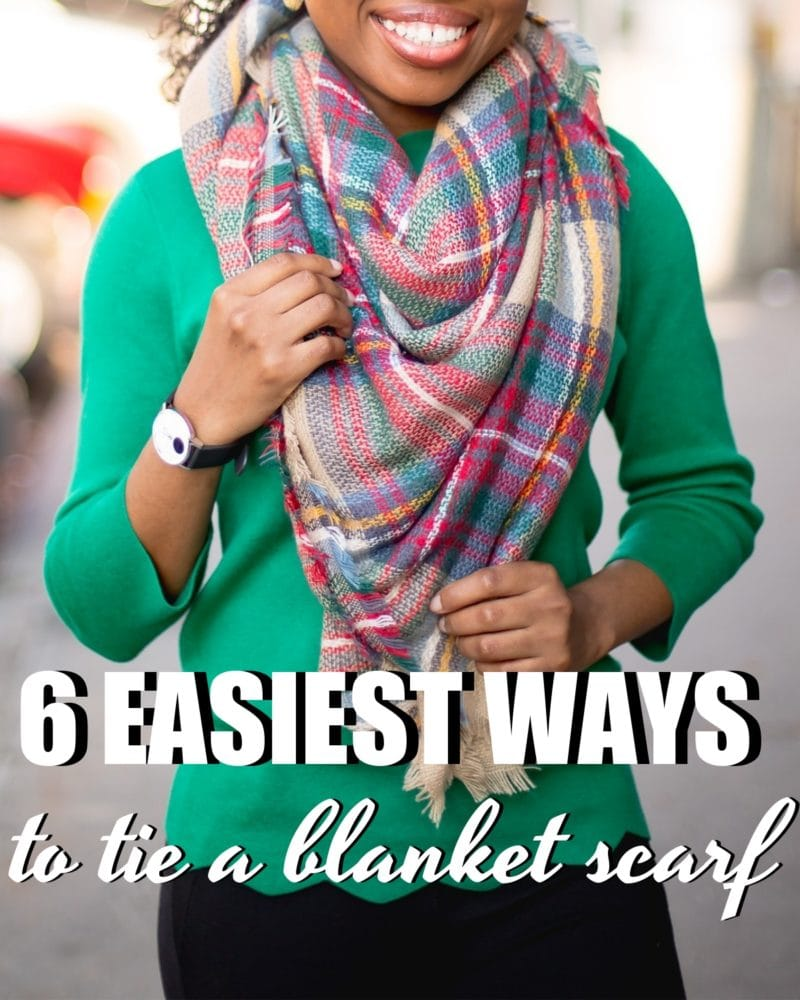 How to Tie a Blanket Scarf in 2020: 6 EASIEST Ways to Wear a Scarf