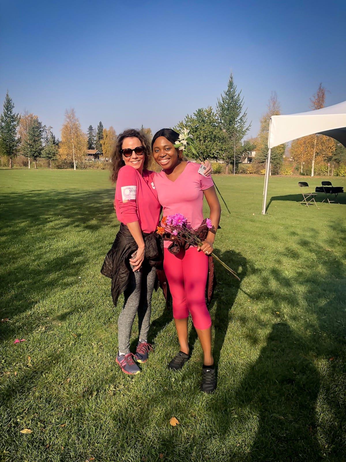 Making strides against breast cancer, 5K run in Fairbanks, Alaska