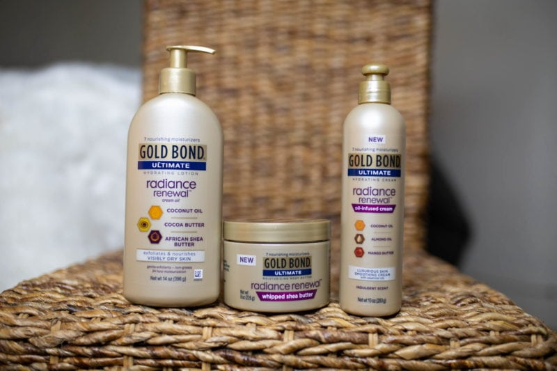 Gold Bond Radiance Renewal Review: Oil-Infused Cream, Lotion, Whipped Shea Butter