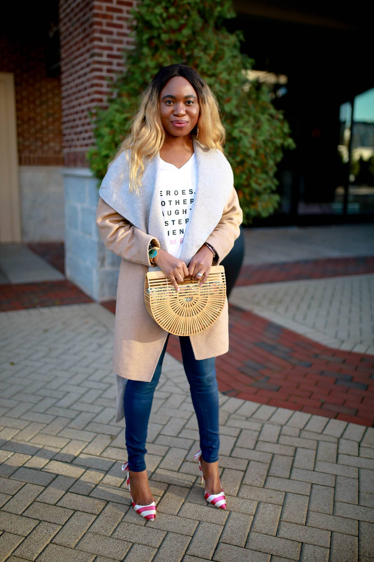 Fashion and lifestyle blogger, Louisa, shares how you can upgrade your denim and tee outfit with items you already have. And for fall, a trench coat or trendy wool jacket will keep you cozy and chic. Here's how!