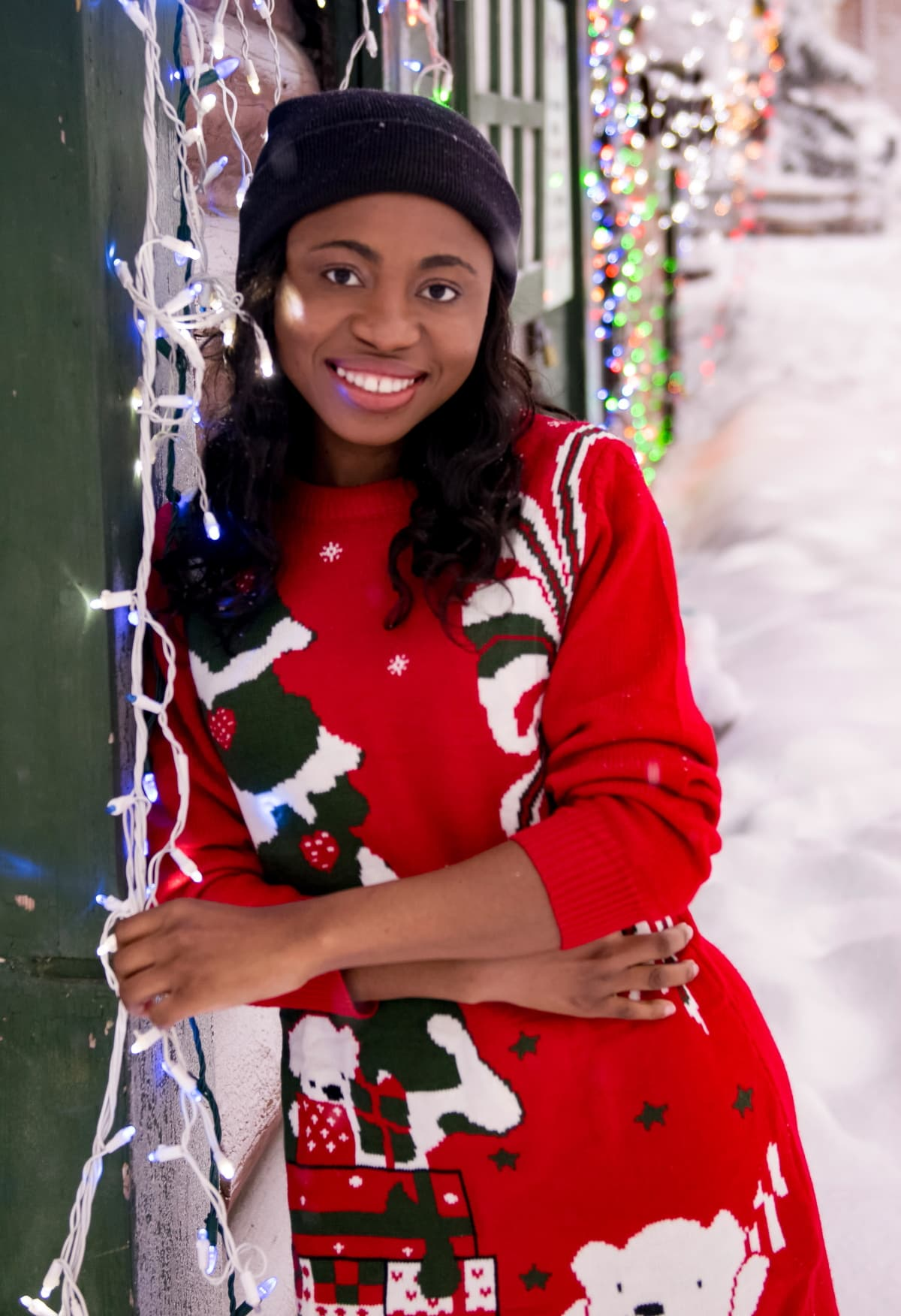 The ultimate roundup of the best Christmas sweater dresses under $40 to wear this year. Keep reading to discover the most-wanted styles of the season. #uglychristmassweater #xmassweater #sweaterdress