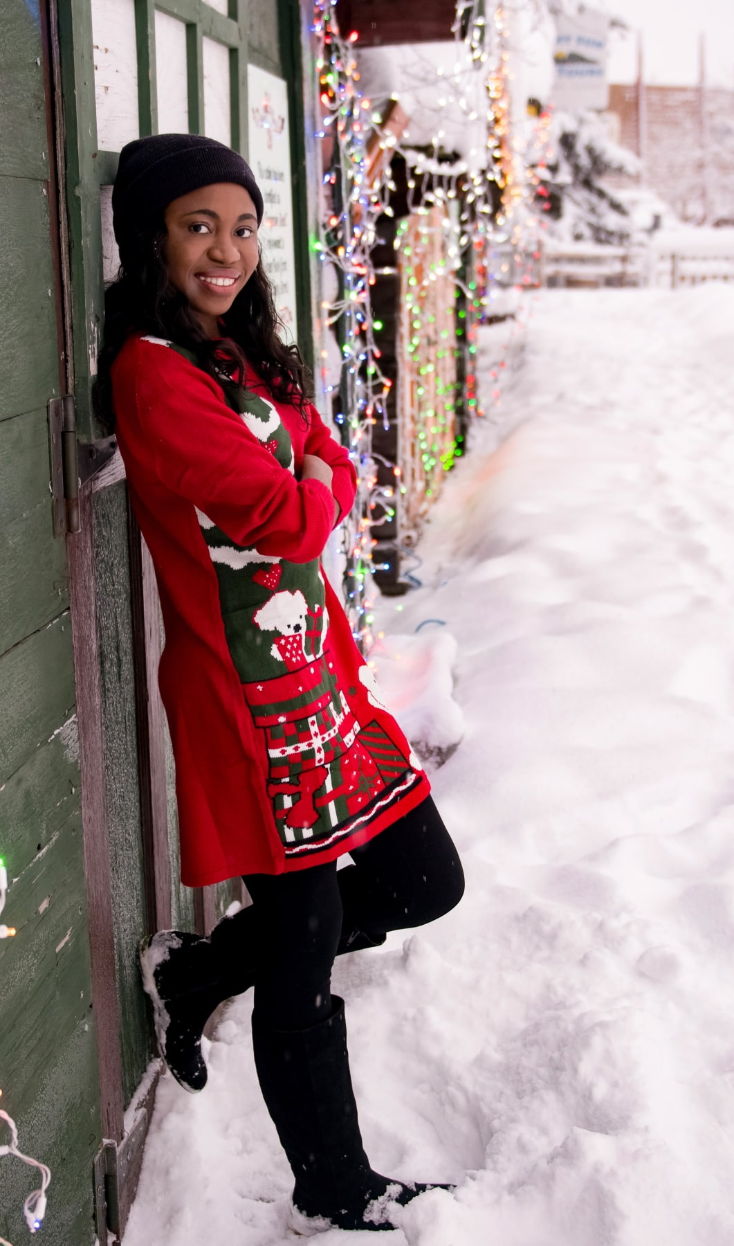 Looking for the best cutely ugly Xmas sweaters? Check out this roundup of the best sweater dresses to rock this year and beyond. #uglysweater #xmassweater #sweaterdress