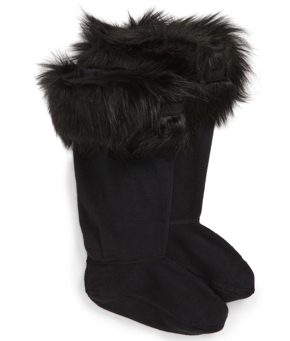 Hunter Original Tall Faux Fur Boot Socks