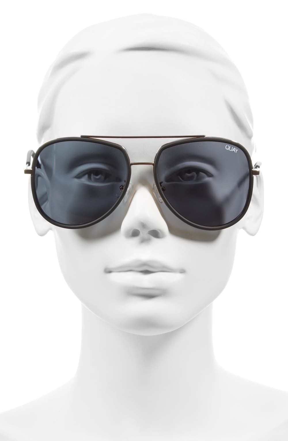 Quay 'Needing Fame' 65mm Aviator Sunglasses