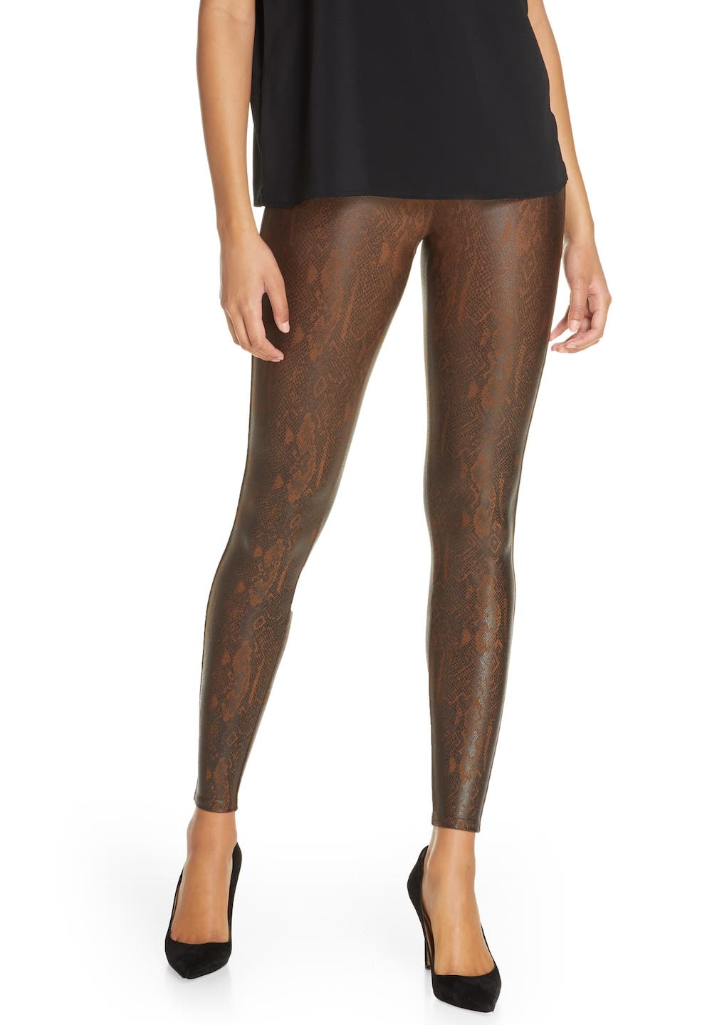 Spanx Snake Print Faux Leather Leggings