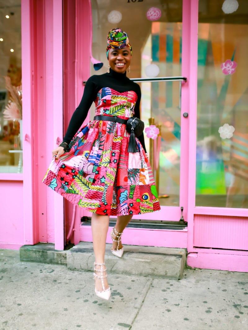 The Audacious Ankara Midi Dress I Wore to New York Fashion Week