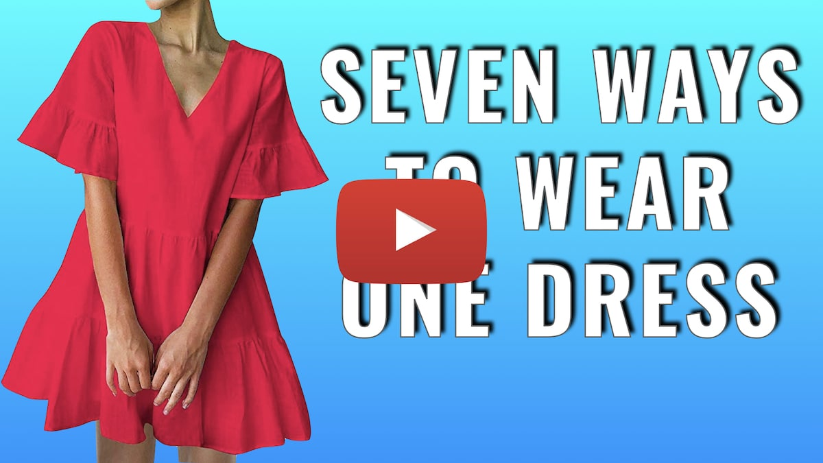 Red Dress Outfit - Seven Ways to Wear One Dress