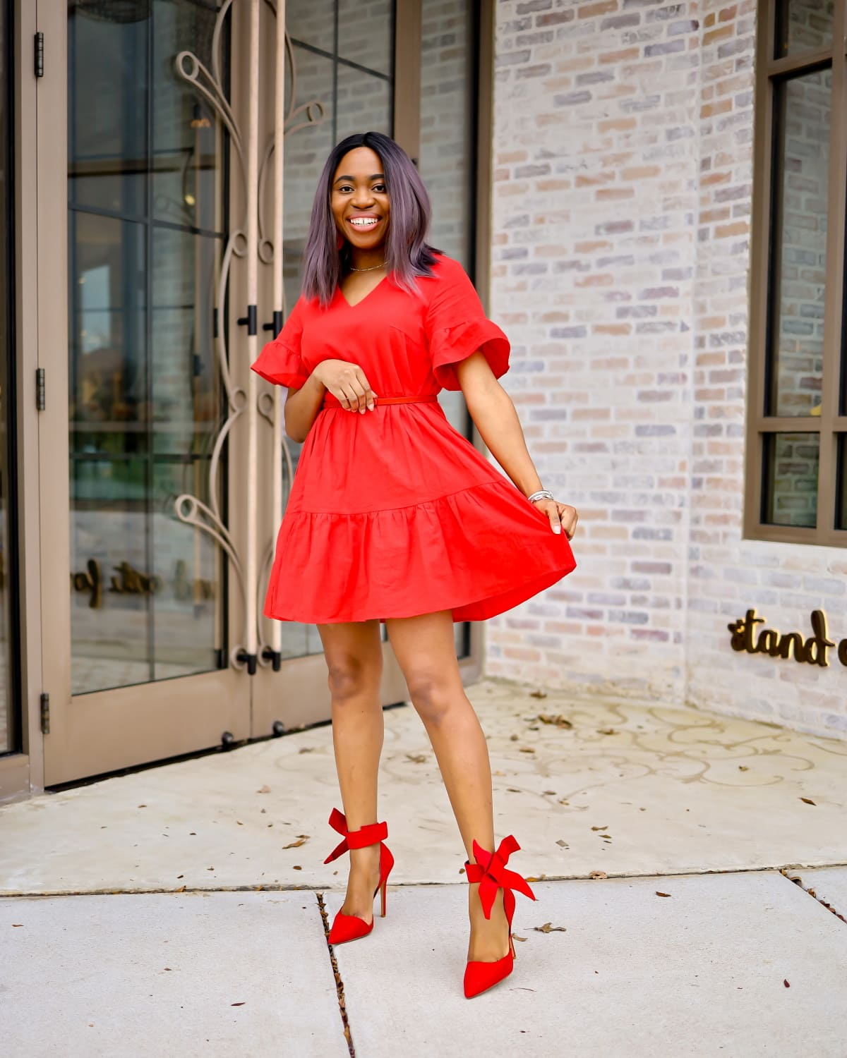 7 Easy Ways to Wear a Red Dress | Worried that red might be too bold for you? Here are outfit options wearing a red shift dress you can steal to help you effortlessly slay a red dress this season. Everything from a casual look with on-trend sneakers and work denim for the career woman to keeping warm with a blanket scarf and being the life of the party in an all-red monochrome outfit. I've got you covered!