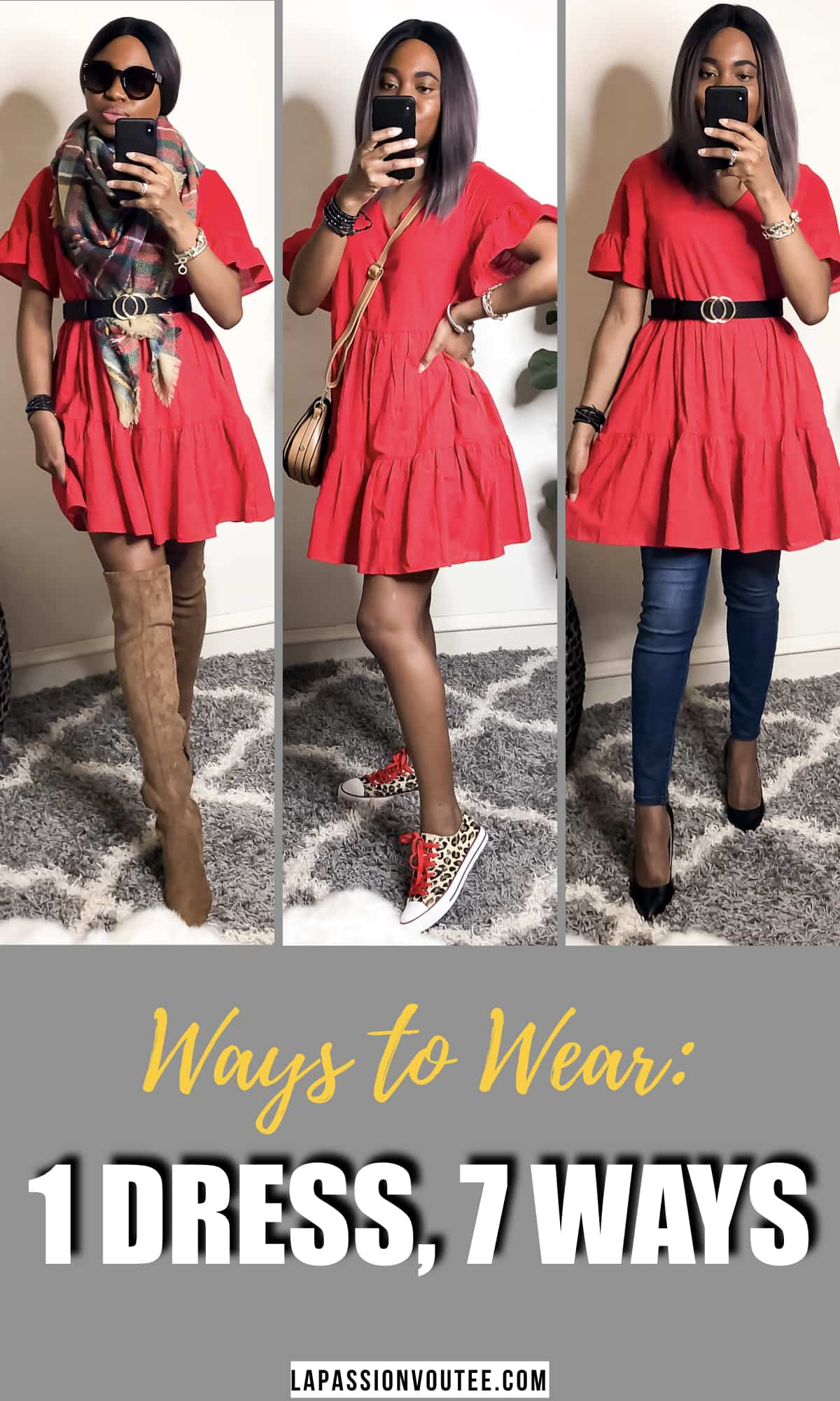 It's no secret that a stunning red dress might be all you need to create a breathtaking, hard-to-ignore appearance during the day and even at night. Move over LBD! See 7 unique ways to rock this under $30 red shift dress