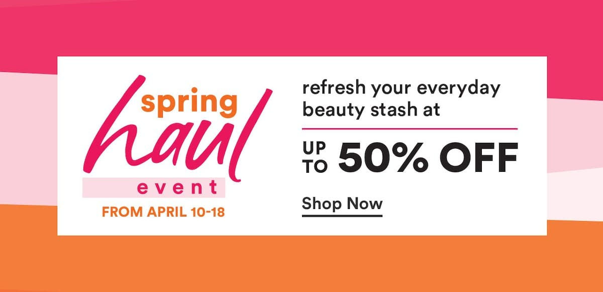 What makes this Ulta Spring Haul Event 2020 different from the recently concluded 21 Days of Beauty Spring Sale is the crazy markdown on mostly drugstore items and everyday beauty finds like makeup, skincare, haircare, and applicators.