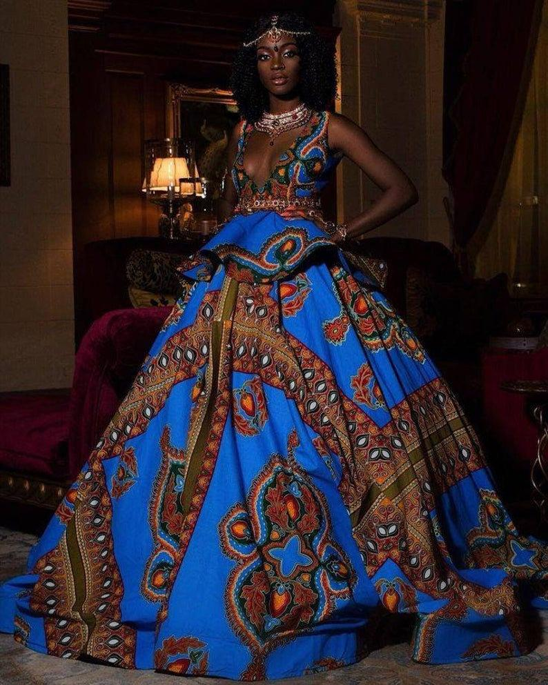 An African style dress fit for a queen