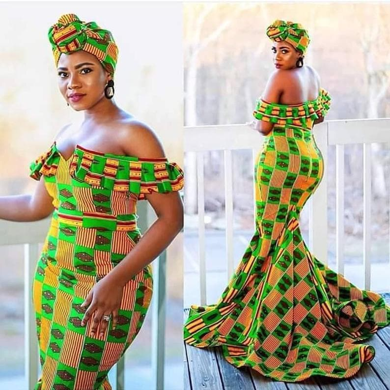 a fabulous kente style dress to stand out