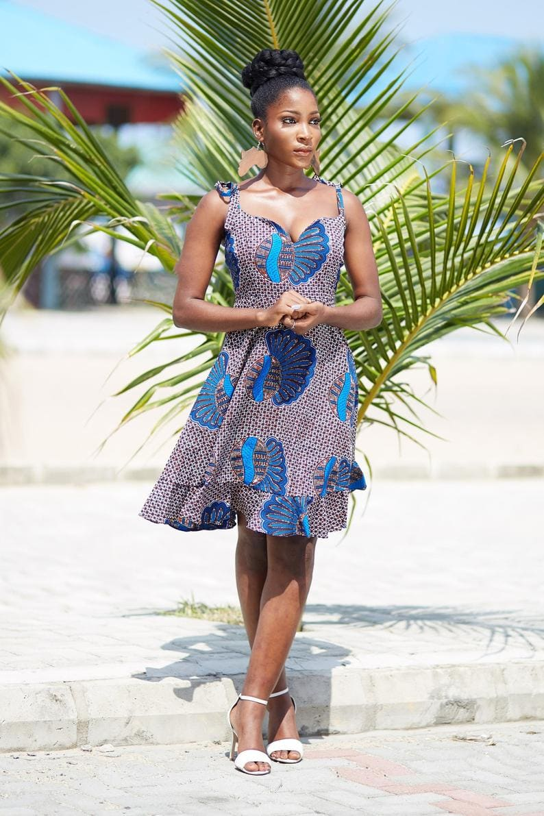 The perfect summer African print dress to have
