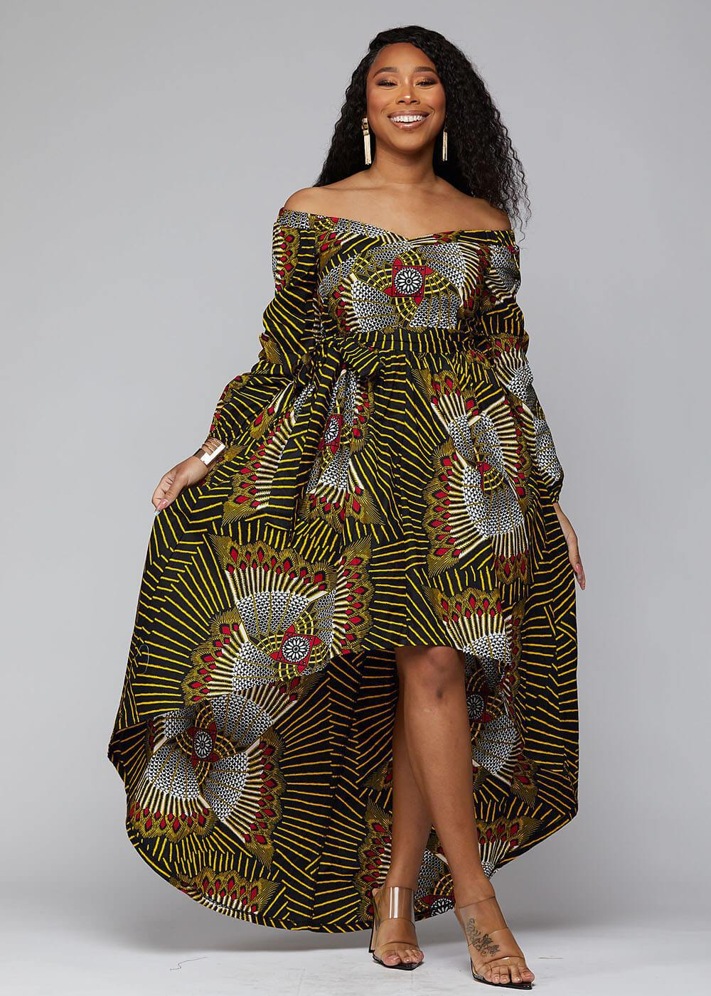 A showstopper dress from the house of D'Iyanu