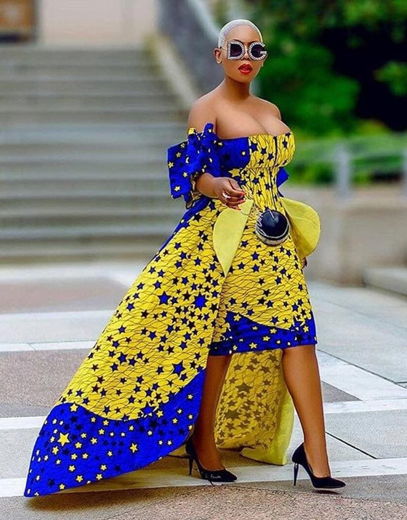 African sizzling hot ankara party dress